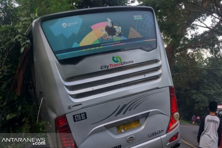 Two killed and dozens injured in a bus  accident in Sukabumi