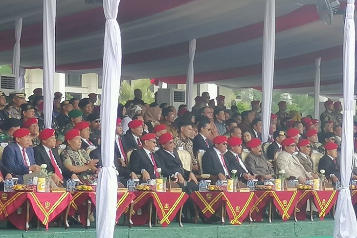 Prabowo, Hendropriyono dan Gatot Nurmantyo hadiri HUT Kopassus Cijantung