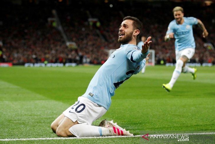 Derby Manchester di Old Trafford, Man City kembali amankan puncak klasemen