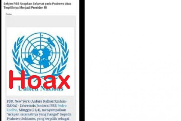 Klarifikasi  ucapan selamat Sekjen PBB kepada salah satu Capres