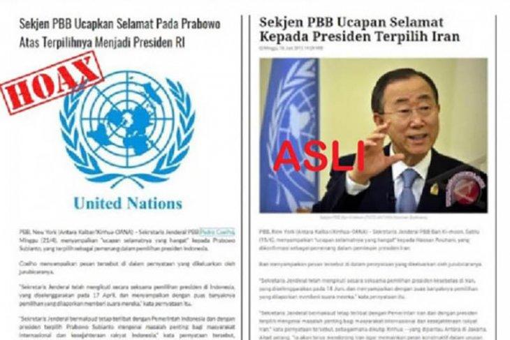 Hoaks, ucapan selamat Sekjen PBB kepada Prabowo terkait Pilpres 2019