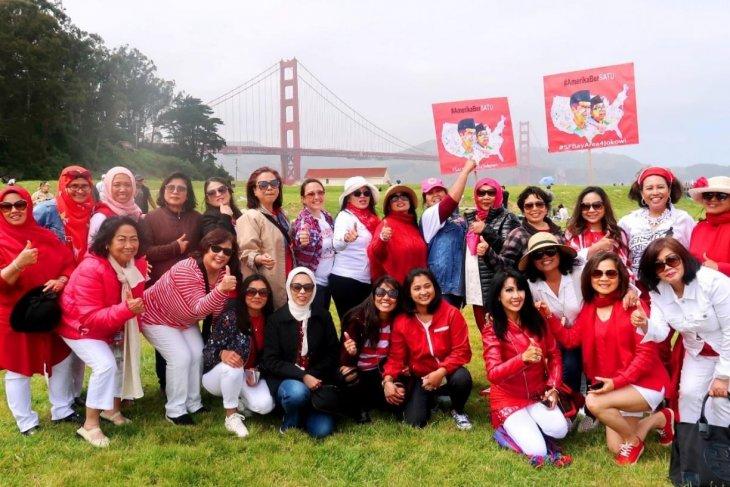 Relawan Jokowi-Amin di Amerika Serikat adakan syukuran