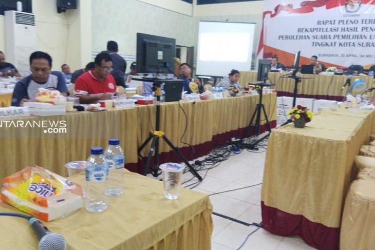 Rekapitulasi KPU Surabaya: Jokowi-Ma'ruf unggul di 20 kecamatan