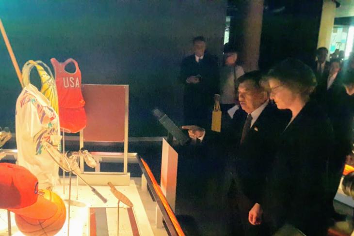 Ada seragam Susi Susanti di Museum Olimpiade Lausanne