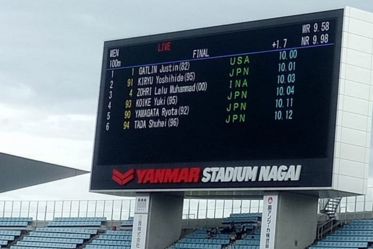 Lalu Muhammad Zohri finis ketiga di Jepang dan pertajam rekornas