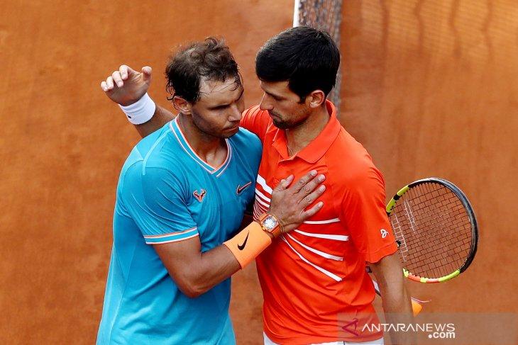 Nadal dan Djokovic unggul pada tingkat serangan balasan