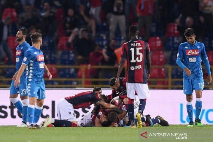 Napoli tutup musim dengan kekalahan di markas Bologna