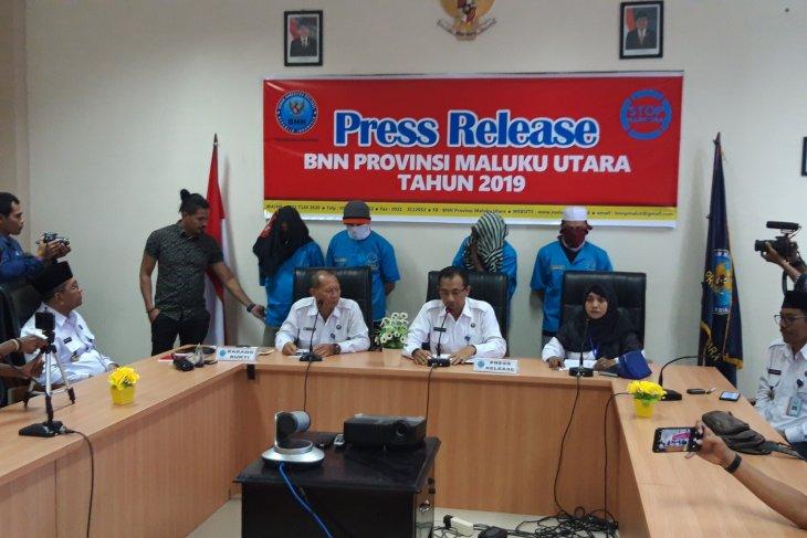 BNN Malut tangkap empat bandar narkoba jaringan Ternate-Makassar
