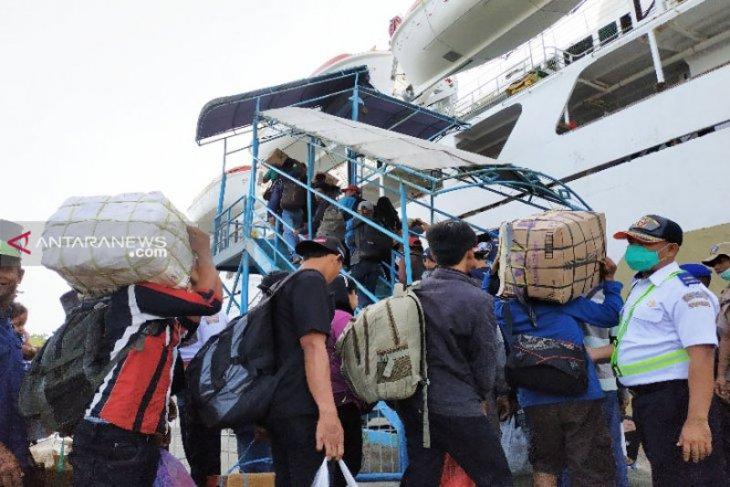 Pelni telah berangkatkan 5.621 penumpang dari Pelabuhan Sampit