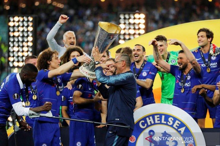 Trofi Liga Europa dan lolos Liga Champions, Sarri benar-benar bahagia
