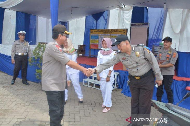 Kapolda Jambi inspeksi posko pengamanan di lintas Sumatera