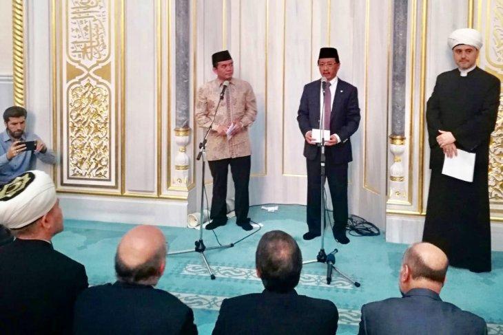 Ini dia, Solidaritas Muslim Indonesia dan Rusia untuk Palestina