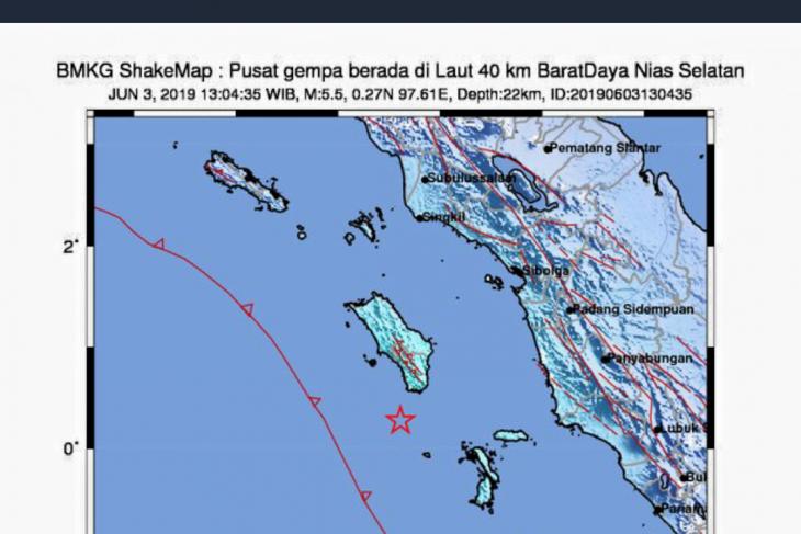 Nias in North Sumatra rattled by magnitude-6 quake