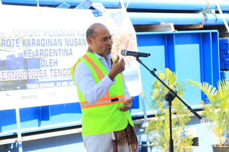 NTT prepares fish to be exported through  El Tari airport