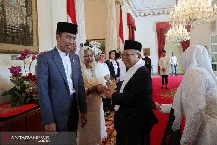 KH Ma'ruf Amin silaturahmi ke Presiden