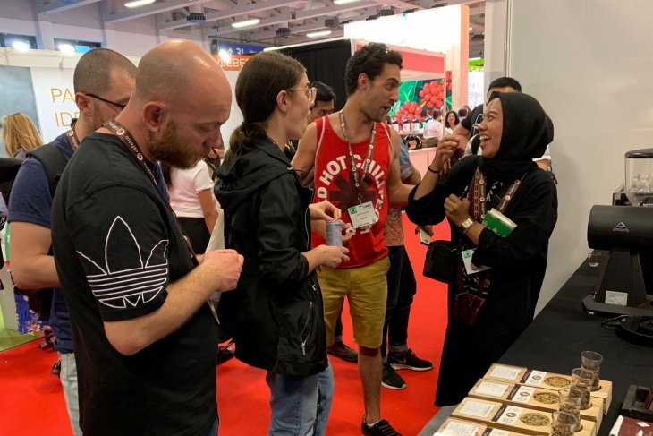 Indonesian coffee attracts visitors at world coffee expo in Germany