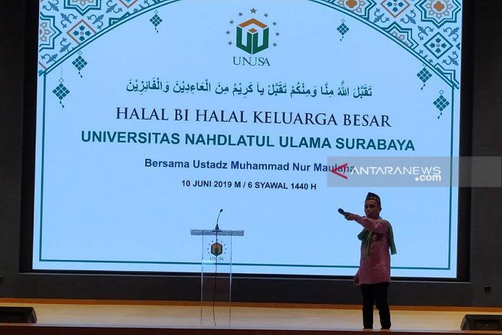 Halalbihalal, Unusa hadirkan Ustadz Maulana