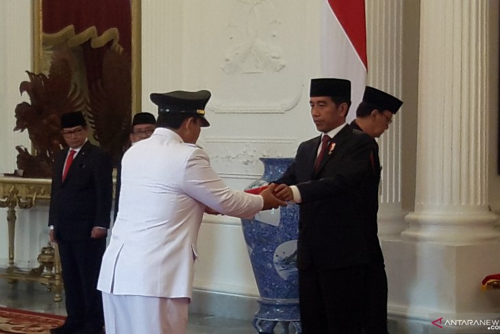 Jokowi inducts Djunaidi as Lampung Governor, Chalim as Deputy Governor