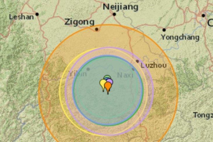 Korban tewas gempa di China baratdaya bertambah