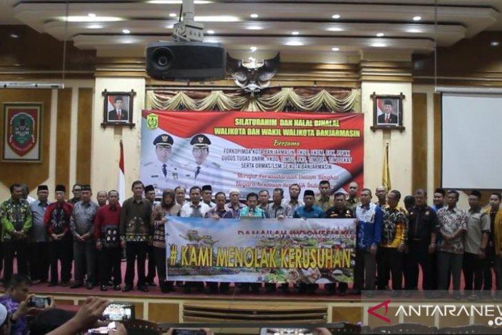 Walikota Banjarmasin pimpin deklarasi tolak kerusuhan