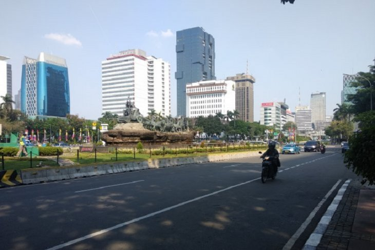 BEM SI demo,  area Patung Kuda masih normal