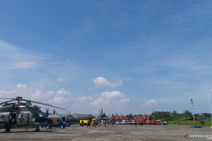 Two aircraft, one helicopter deployed for disaster mitigation drill
