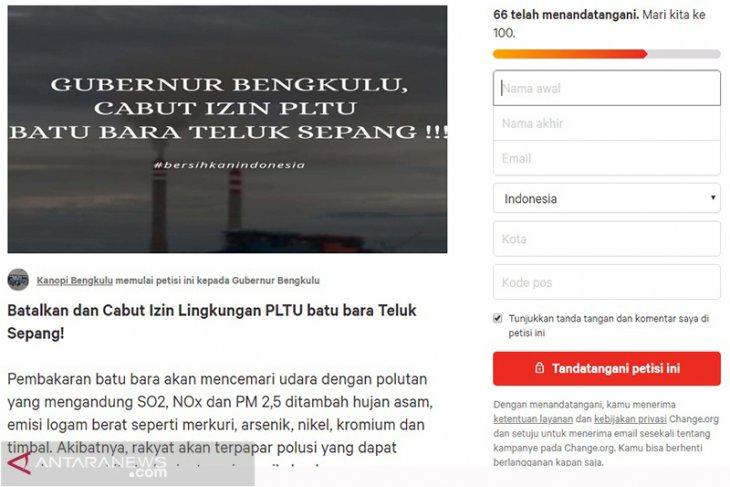 Kanopi luncurkan petisi cabut izin PLTU Teluk Sepang