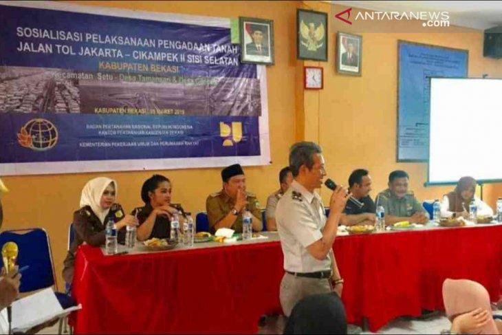 Pembebasan lahan Tol Japek II selatan di Bekasi diprediksi lebih cepat
