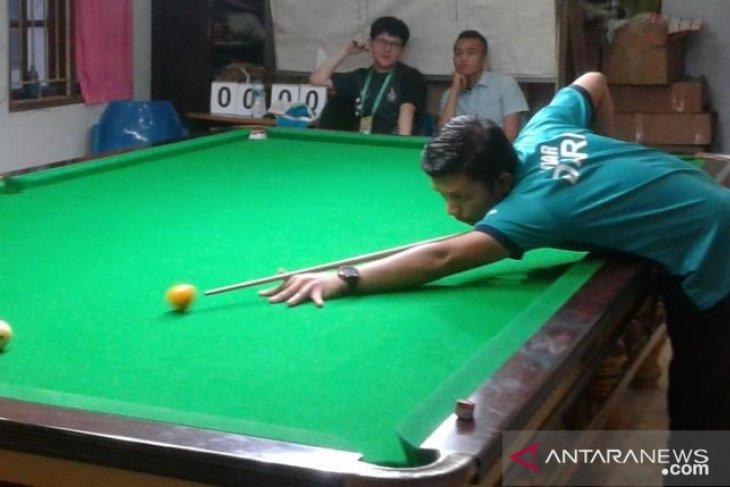 Porprov Sumut, Atlet Pelatnas Marlando Sihombing sumbang emas biliar untuk Dairi