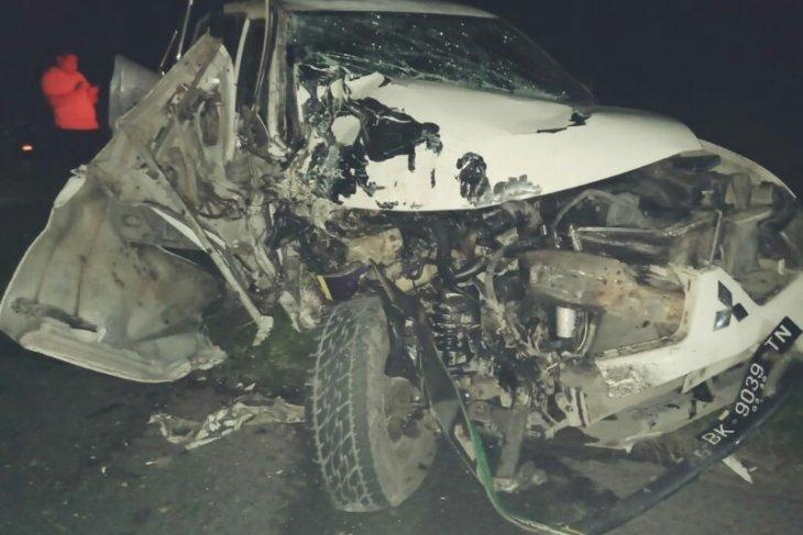 Personel Polsek Bangun Simalungun tewas tabrakan, pasutri luka-luka