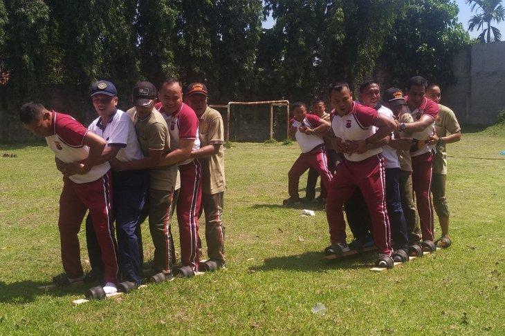 HUT Bhayangkara,  Polres Asahan gelar olahraga bersama Kodim 0208
