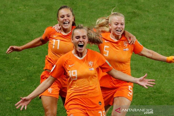 Belanda melaju ke final Piala Dunia Putri usai kalahkan Swedia 1-0
