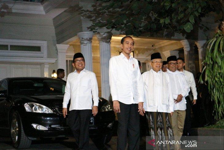 President Jokowi picks up Ma'ruf Amin to go to Halim Perdanakusuma