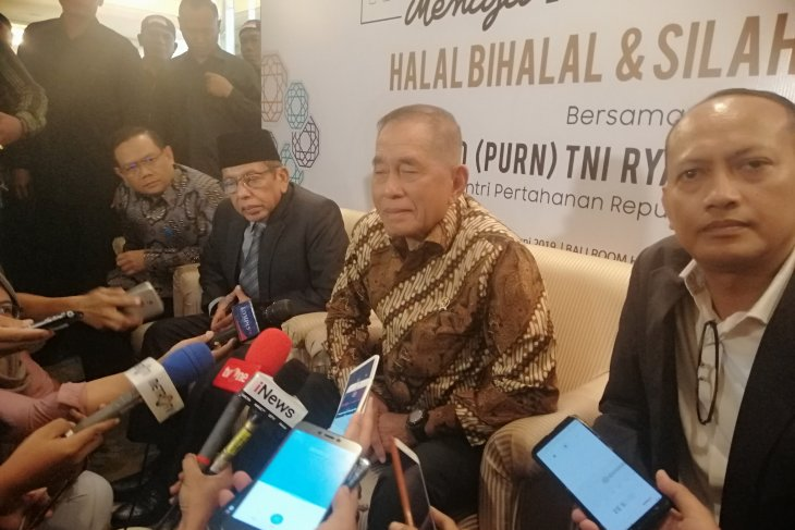 Menhan Ryamizard: Rekonsiliasi Jokowi-Prabowo perlu dilakukan