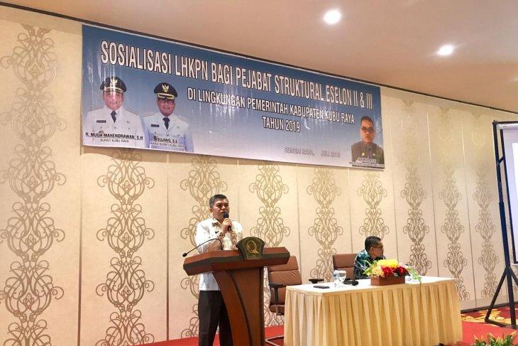Baru 57 pejabat sampaikan LHKPN di Kubu Raya