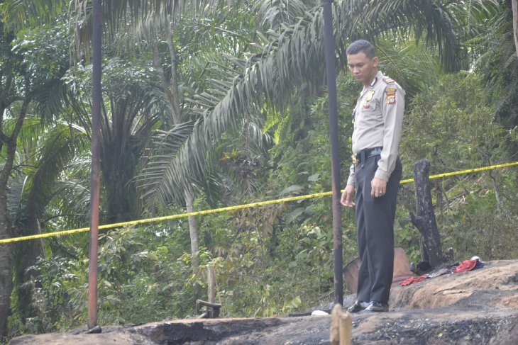 Fire-ravaged oil well in East Aceh located in PEP's working area