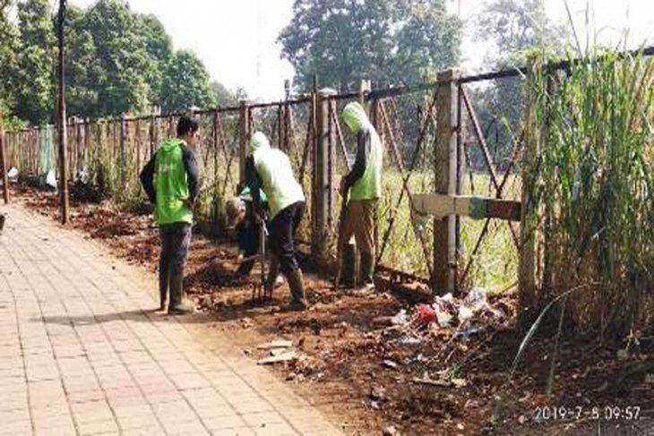 Lahan bekas PKL di Jalan Dr.Semeru ditanami pohon