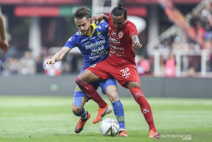 Jalannya pertandingan Persija vs Persib, skor: 1-1