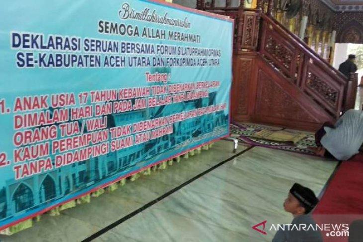 Ormas se-Aceh Utara deklarasikan larangan anak dan perempuan berkeliaran malam
