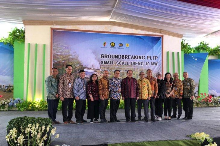Geodipa Energi groundbreaking proyek PLTP skala kecil Dieng 10 MW