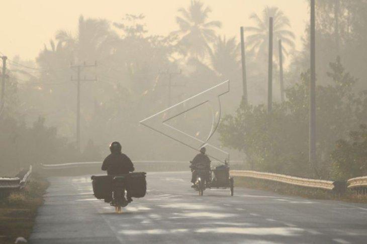 Kabut asap melanda Aceh barat