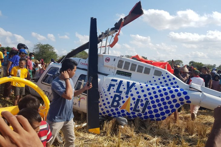 Kemenhub turunkan personel bantu evakuasi helikopter yang jatuh di Lombok