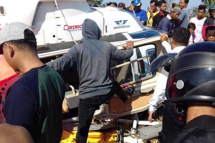 Helikopter angkut 3 WNA jatuh dekat Bandara Lombok