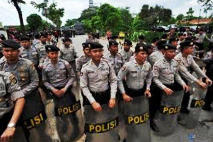 Amankan aksi demo, Satuan Sabhara terjunkan 80 personel