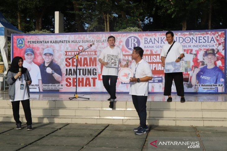 Video - Masyarakat HSS antusias ikuti sosialisasi ciri-ciri keaslian uang Rupiah