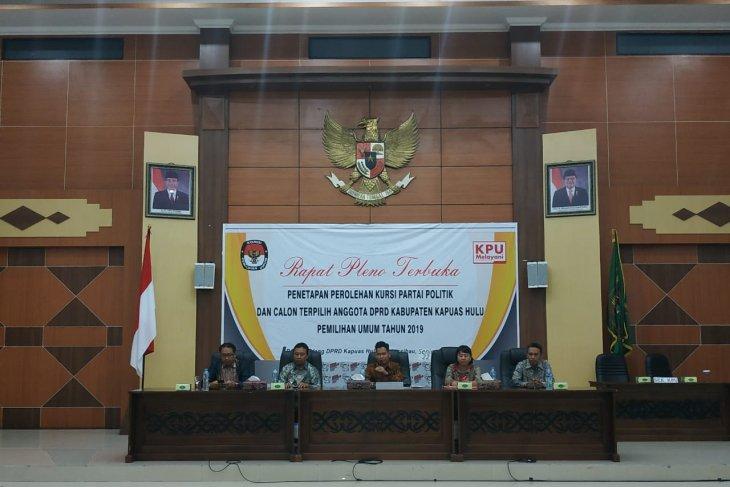 KPU  tunda penetapan caleg terpilih Kabupaten Kapuas Hulu