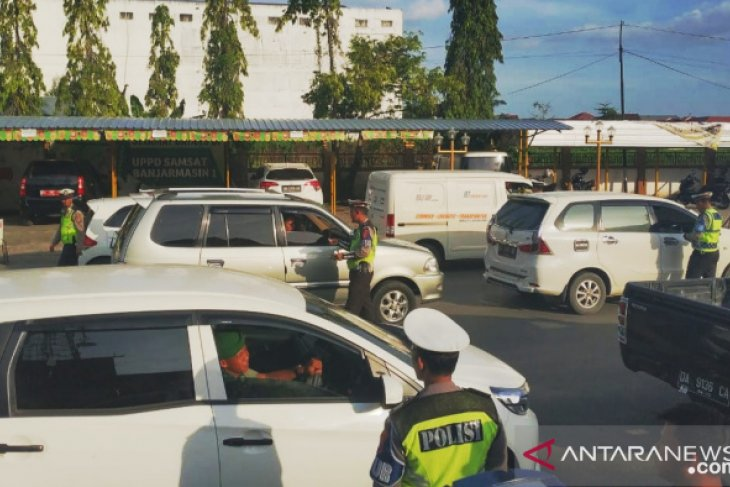 Satlantas Banjarmasin gelar razia kendaraan roda empat