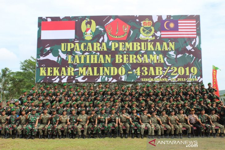 TNI AD dan TDM gelar Kekar Malindo-43AB/2019