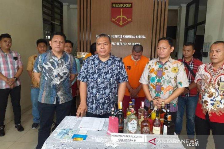 Ditreskrimsus Babel tangkap penjual minuman beralkohol tanpa izin
