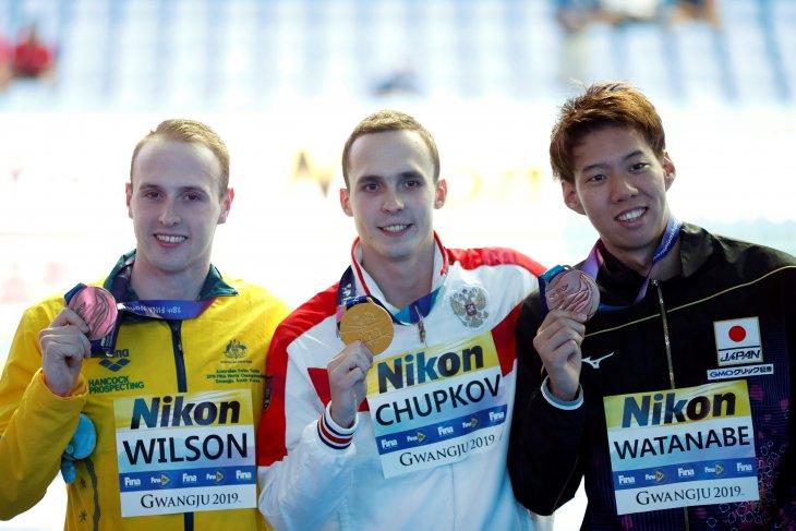 Perenang Rusia Anton Chupkov pecahkan rekor gaya dada